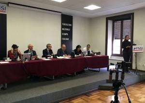 Un momento della riunione della Consulta dei Comitati e fiduciari di redazione della Fnsi