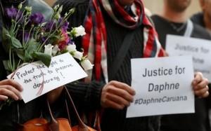 Una cerimonia in ricordo di Daphne Caruana Galizia