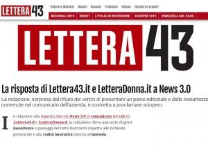 Il comunicato dello sciopero pubblicato su Lettera43.it