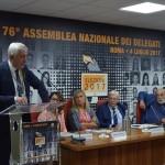 L'intervento del Presidete Daniele Cerrato (foto: casagit.it)