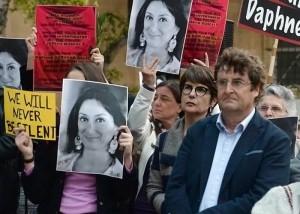 Una manifestazione in ricordo di Daphne Caruana Galizia (Foto: europeanjournalists.org)