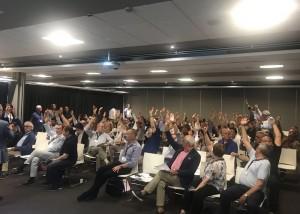 I delegati Casagit votano l'atto costitutivo e lo statuto della nuova Fondazione (Foto @Casagit)