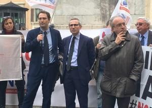 Il direttore di Radio Radicale Alessio Falconio con Raffaele Lorusso e Giuseppe Giulietti