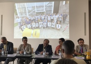Un momento dell'incontro nella redazione del Giornale di Brescia (Foto @pferrari68)