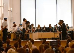 Un momento dell'udienza (Foto La Provincia Pavese/Garbi)